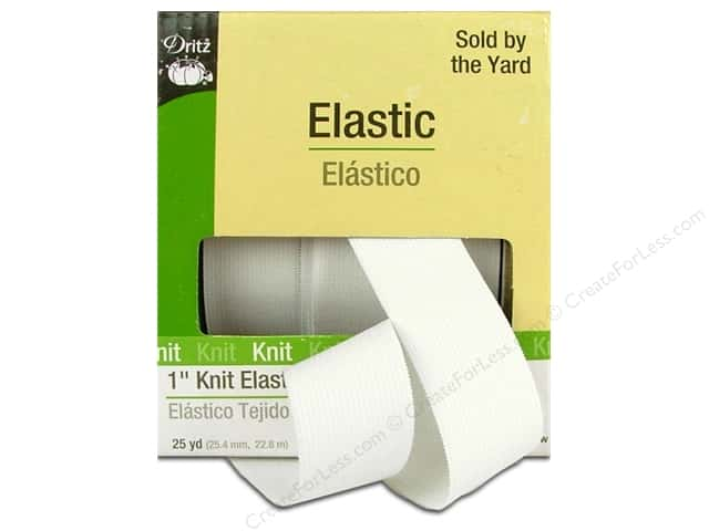 Knit Elastic by Dritz 1 in. White 25 yd. (25 yards)