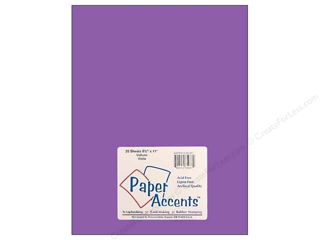 Paper Accents Vellum 8 1/2 x 11 in. #987 Viola (25 sheets)