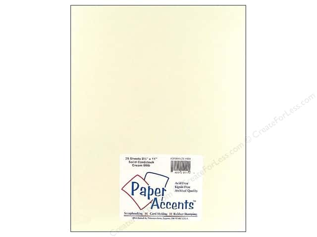 Paper Accents Cardstock 8 1/2 x 11 in. #119M Smooth Cream (25 sheets)