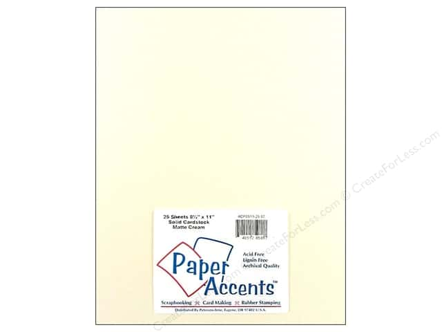 Cardstock 8 1/2 x 11 in. #87 Smooth Matte Cream by Paper Accents (25 sheets)