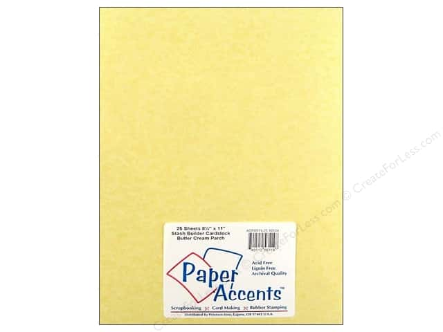 Paper Accents Cardstock 8 1/2 x 11 in. #10134 Stash Builder Butter Cream Parchment (25 sheets)