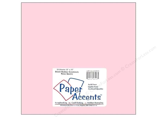 Cardstock 12 x 12 in. #10133 Stash Builder Rose Quartz by Paper Accents (25 sheets)