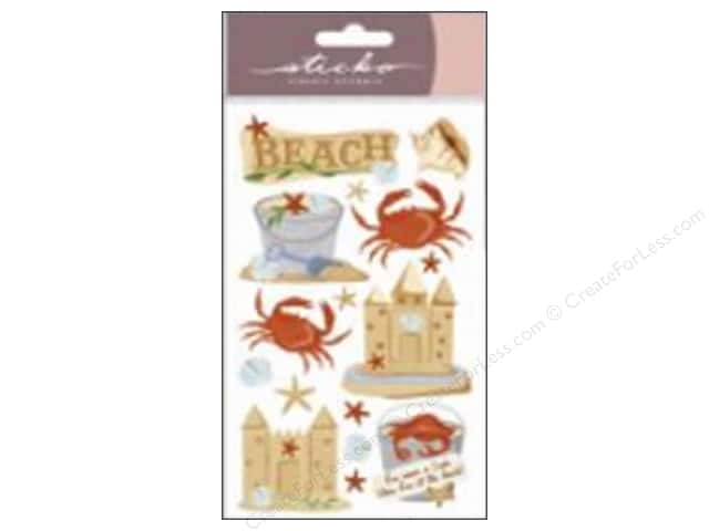 EK Sticko Stickers Vellum Beach and Crabs