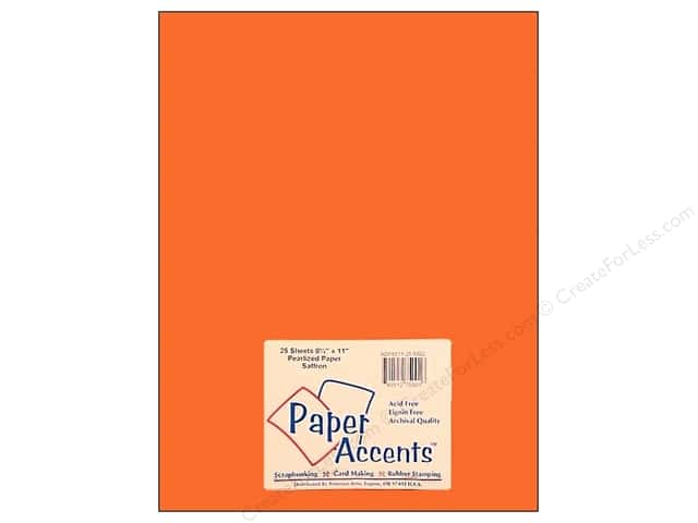 Paper Accents Pearlized Paper 8 1/2 x 11 in. #8802 Saffron (25 sheets)