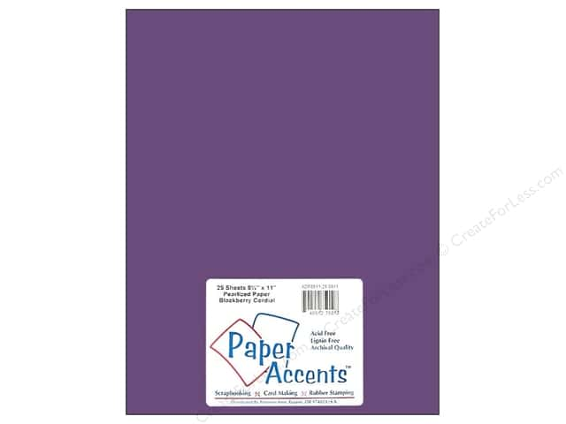 Pearlized Paper 8 1/2 x 11 in. #8811 Blackberry Cordial by Paper Accents (25 sheets)