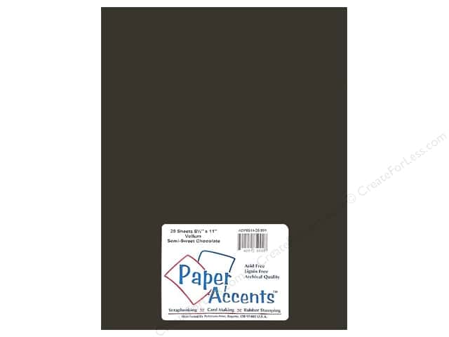 Vellum 8 1/2 x 11 in. #991 Semi-Sweet Chocolate by Paper Accents (25 sheets)