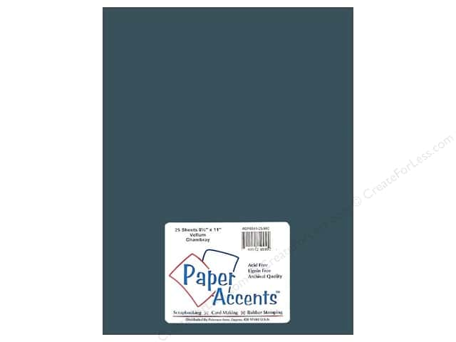 Vellum 8 1/2 x 11 in. #992 Chambray by Paper Accents (25 sheets)