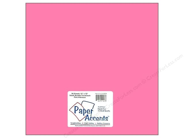 Cardstock 12 x 12 in. #10124 Stash Builder Pink Hibiscus by Paper Accents (25 sheets)