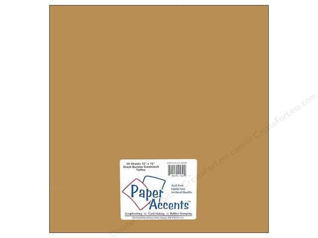 Paper Accents Cardstock 12 x 12 in. #10125 Stash Builder Toffee (25 sheets)