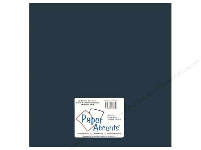 Cardstock 12 x 12 in. #10129 Stash Builder Empress Blue by Paper Accents (25 sheets)