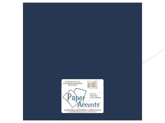 Cardstock 12 x 12 in. #10130 Stash Builder Blue Velvet by Paper Accents (25 sheets)