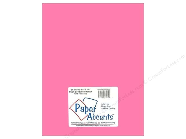 Paper Accents Cardstock 8 1/2 x 11 in. #10124 Stash Builder Pink Hibiscus (25 sheets)