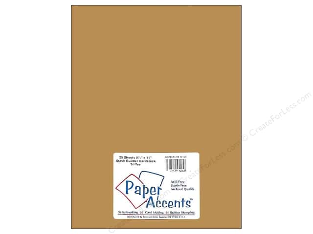 Cardstock 8 1/2 x 11 in. #10125 Stash Builder Toffee by Paper Accents (25 sheets)