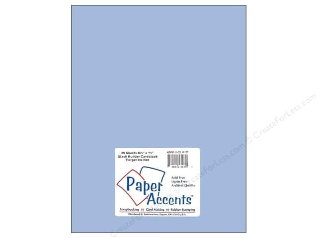 Paper Accents Cardstock 8 1/2 x 11 in. #10127 Stash Builder Forget Me Not (25 sheets)
