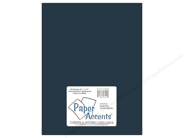 Cardstock 8 1/2 x 11 in. #10129 Stash Builder Empress Blue by Paper Accents (25 sheets)