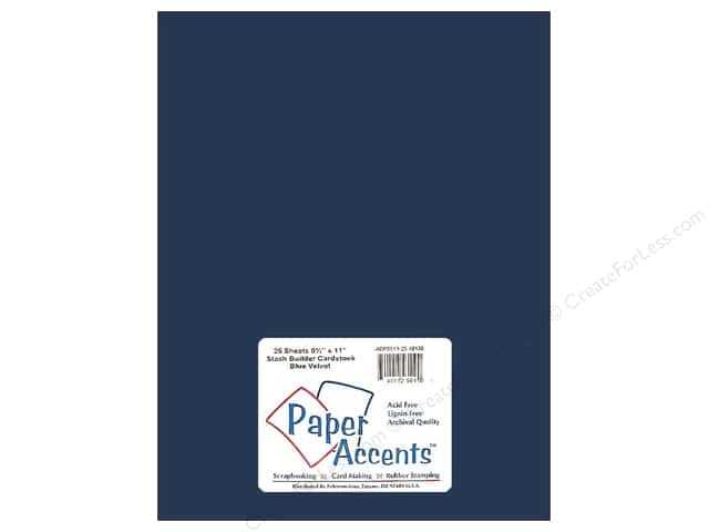 Cardstock 8 1/2 x 11 in. #10130 Stash Builder Blue Velvet by Paper Accents (25 sheets)