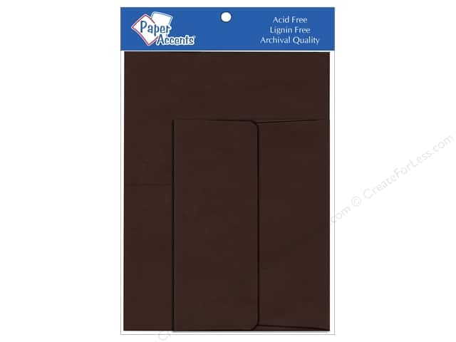 4 1/4 x 5 1/2 in. Blank Card & Envelopes by Paper Accents 8 pc. Hot Fudge