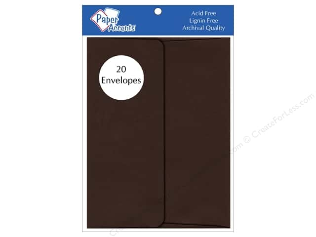 4 1/4 x 5 1/2 in. Envelopes by Paper Accents 20 pc. #198 Hot Fudge