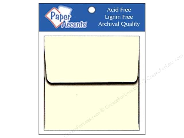 2 1/4 x 2 1/4 in. Envelopes by Paper Accents 15 pc. #119 Cream