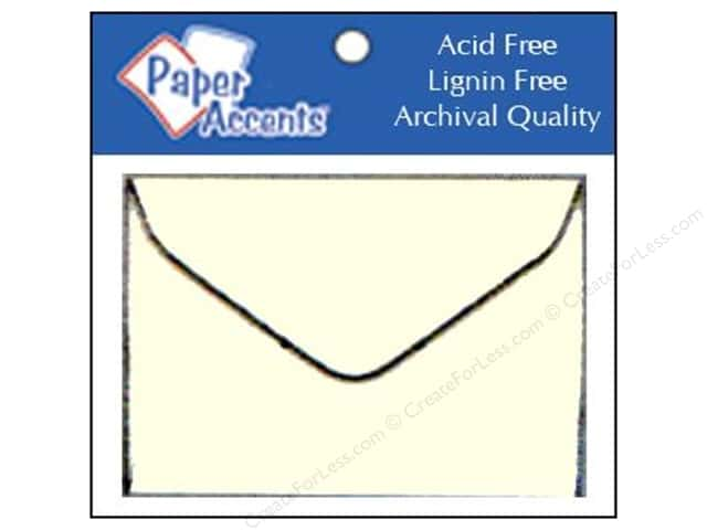 1 3/4 x 2 3/8 in. Envelopes by Paper Accents 15 pc. #119 Cream