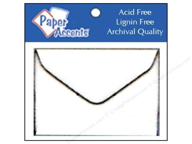 1 3/4 x 2 3/8 in. Envelopes by Paper Accents 15 pc. #128 White