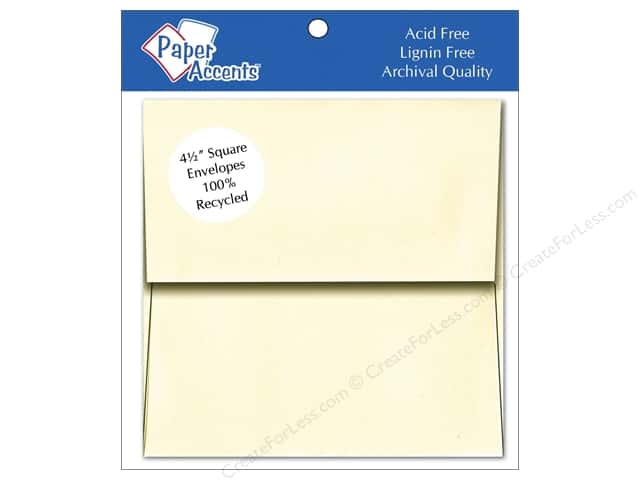 4 1/2 x 4 1/2 in. Envelopes by Paper Accents 8 pc. #119 Cream