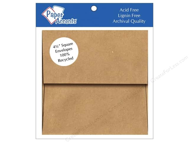 4 1/2 x 4 1/2 in. Envelopes by Paper Accents 8 pc. Brown Bag
