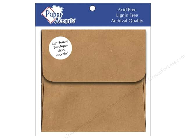 6 1/2 x 6 1/2 in. Envelopes by Paper Accents 8 pc. Brown Bag