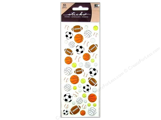 EK Sticko Stickers Puffy Sporty Balls