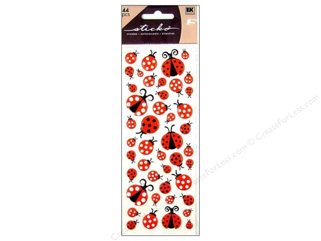 EK Sticko Stickers Puffy LadyBugs