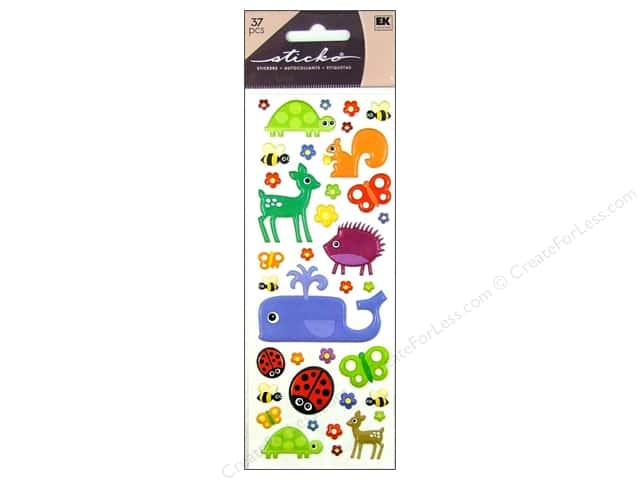 EK Sticko Stickers Puffy Animals