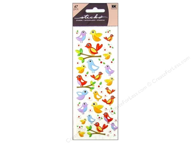 EK Sticko Stickers Puffy Birds