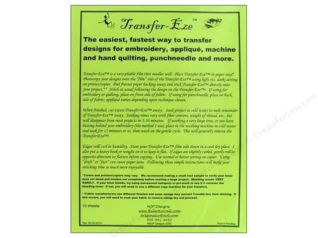 MJP Designs Transfer Eze Design Transfer Sheet 10pc
