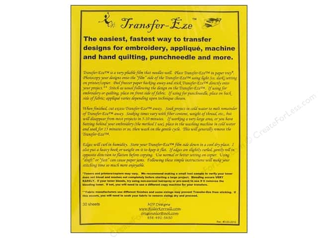 MJP Designs Transfer Eze Design Transfer Sheet 30pc