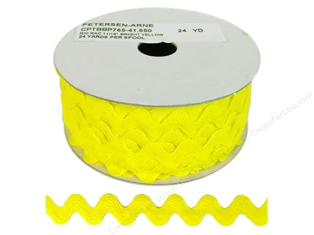 Ric Rac by Cheep Trims  11/16 in. Yellow (24 yards)