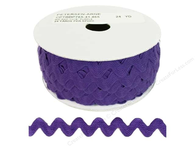 Cheep Trims Ric Rac 11/16 in. Purple