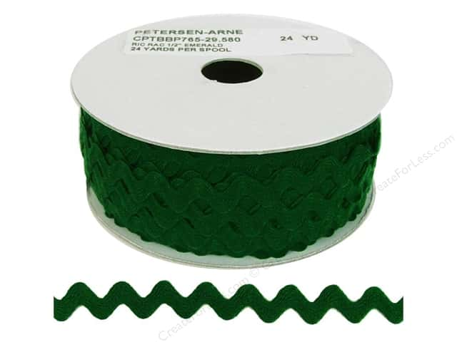 Cheep Trims Ric Rac 1/2 in. Emerald (24 yards)