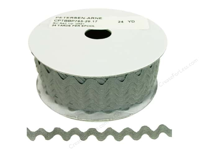 Ric Rac by Cheep Trims  1/2 in. Grey (24 yards)