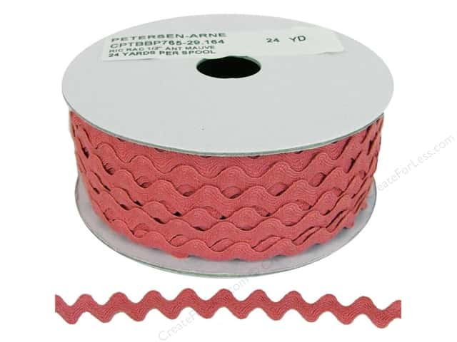 Ric Rac by Cheep Trims  1/2 in. Antique Mauve (24 yards)