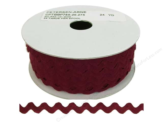 Cheep Trims Ric Rac 1/2 in. Wine