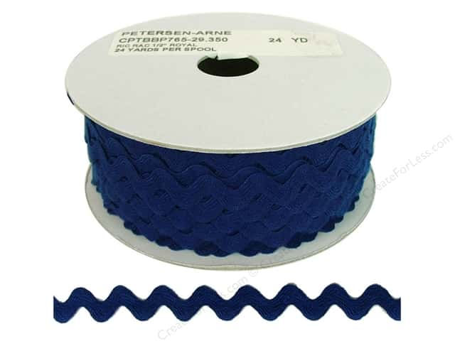 Cheep Trims Ric Rac 1/2 in. Royal