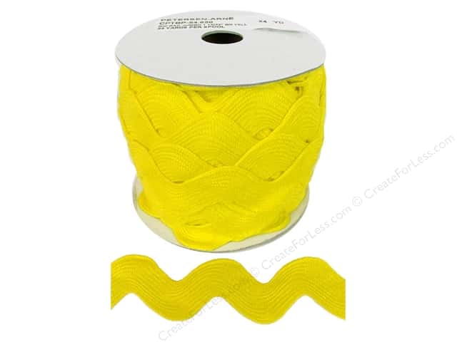Jumbo Ric Rac by Cheep Trims  1 13/32 in. Yellow (24 yards)