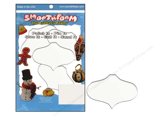 Smoothfoam Ornament Flat Package 2.25 in.  White 4 pc
