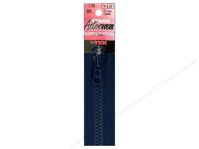 "YKK Vislon Closed Bottom Zipper 7"" Light Navy"