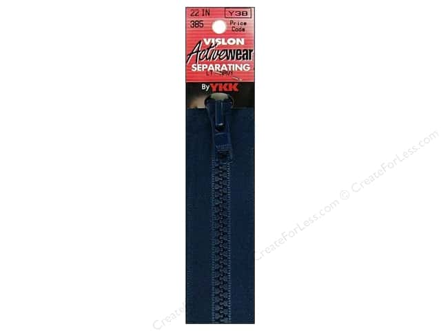 YKK Vislon Separating Zipper 22 in. Light Navy
