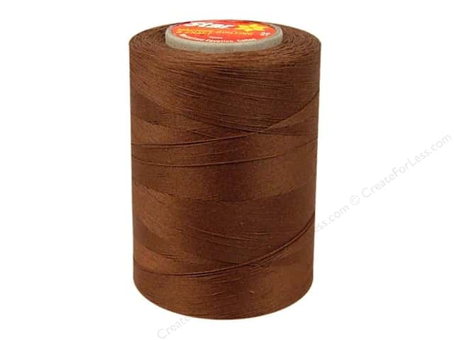 Coats Cotton Machine Quilting Thread 1200 yd. #605 Brown Chestnut