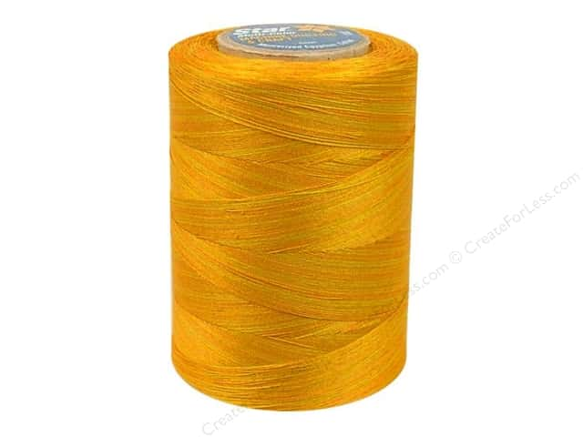Coats & Clark Star Variegated Mercerized Cotton Quilting Thread 1200 yd. #830 Golden Medley