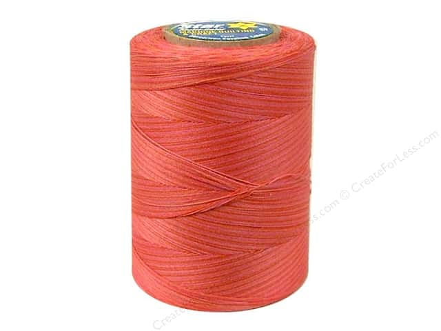 Coats & Clark Star Variegated Mercerized Cotton Quilting Thread 1200 yd. #834 Coral Reef