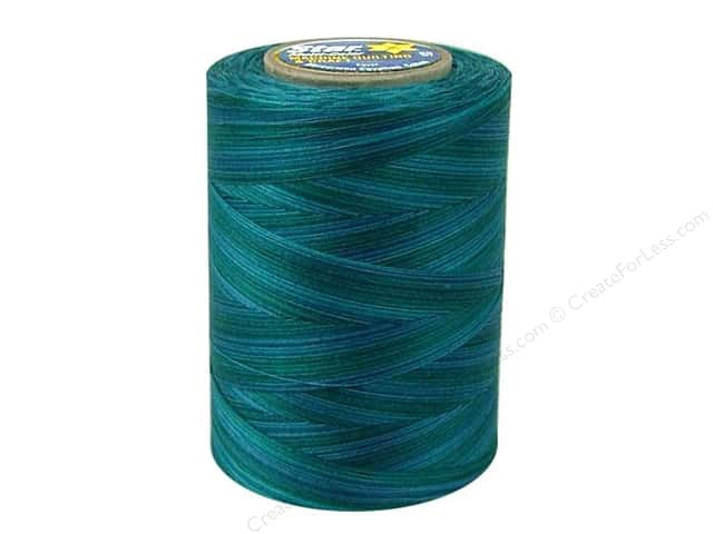 Coats & Clark Star Variegated Mercerized Cotton Quilting Thread 1200 yd. #841 Deep Ocean