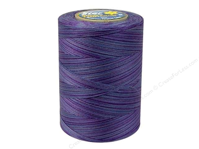 Coats & Clark Star Variegated Mercerized Cotton Quilting Thread 1200 yd. #846 Storm Clouds